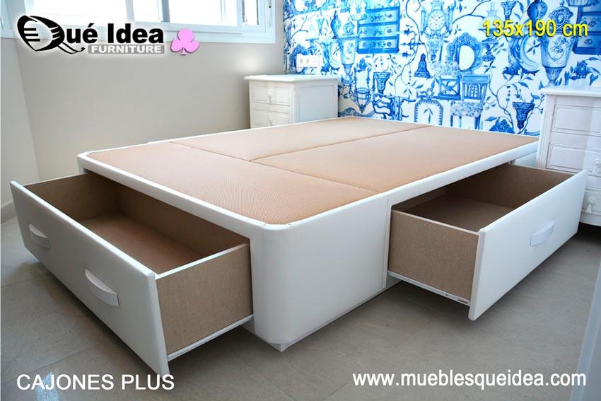 Canap s con cajones cama con cajones muebles qu idea for Cama unipersonal