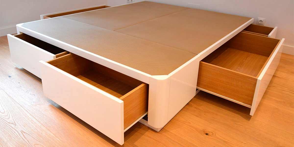 Cama canap de tapa abatible muebles qu idea for Camas con cajones baratas