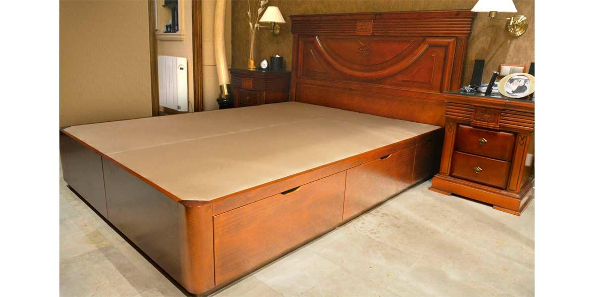 Canap de madera con cajones muebles qu idea - Cajones de madera ...