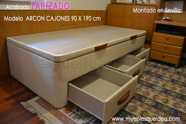 Camas nido camas supletorias cama div n con cajones for Cama divan nina