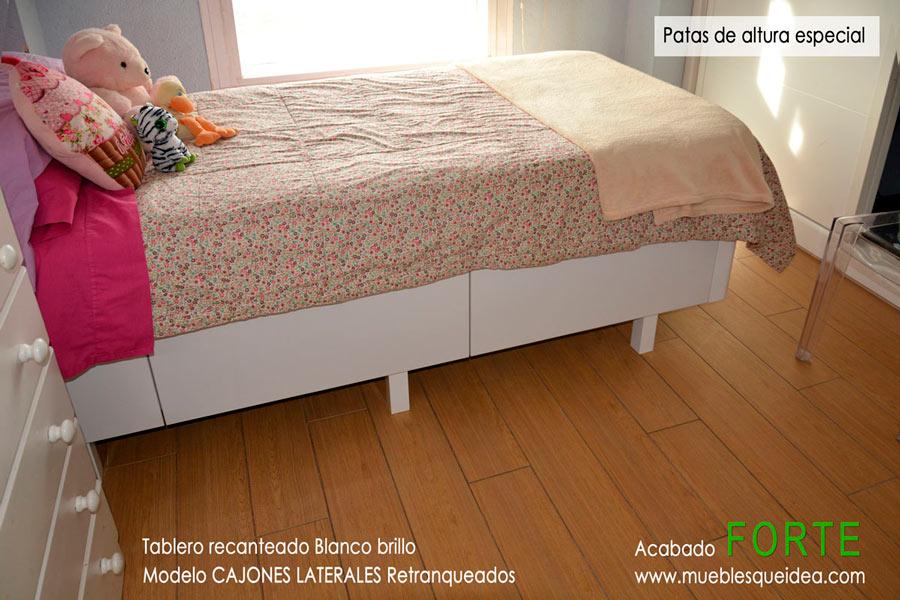 Camas de madera con cajones - Patas para camas ...