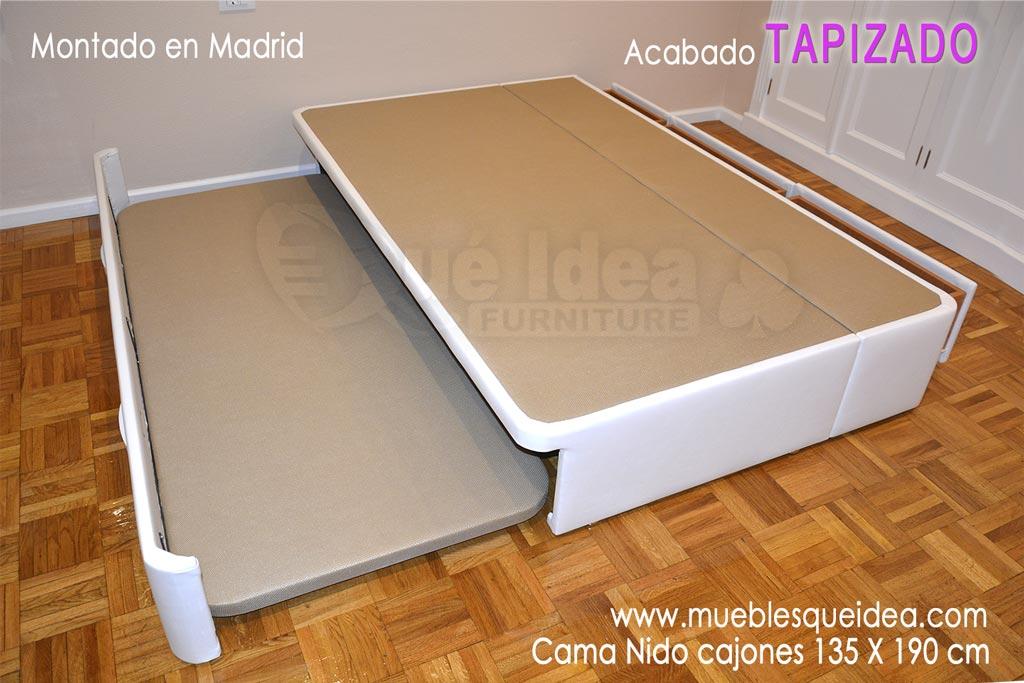 Medidas de la cama nido qu idea hogar for Cama nido con cajones blanca