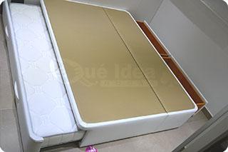 Cama nido tapizada canguro tapizado muebles que idea for Cama nido con cajones blanca