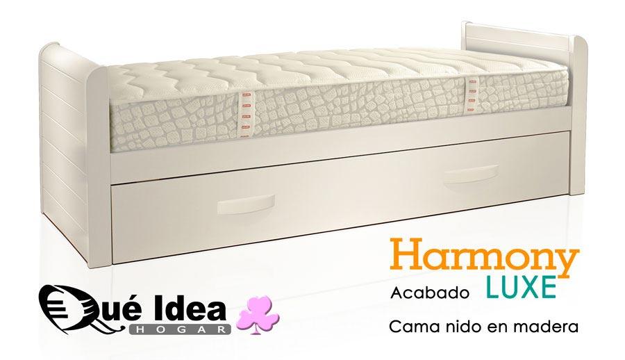 Cama nido lacada en blanco top cama nido vtv lacado en for Cama nido color haya
