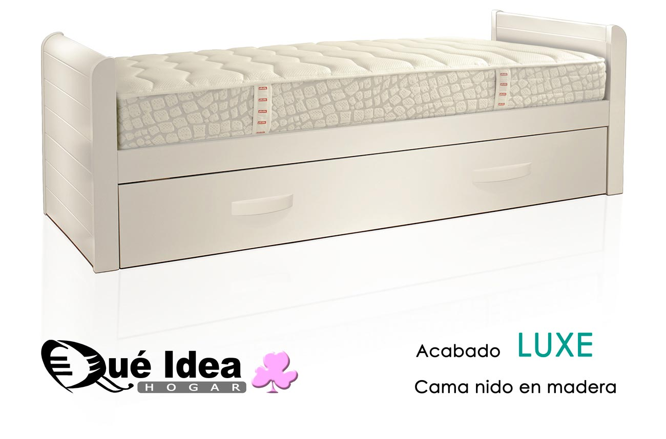 Medidas de la cama nido qu idea hogar for Cama nido color madera
