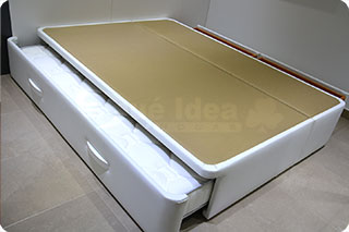 Camas individuales con cajones for Estructura cama nido 105