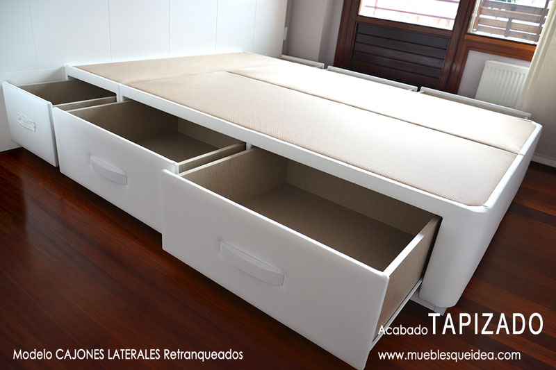 Cama con cajones qu idea hogar for Canape 200x200