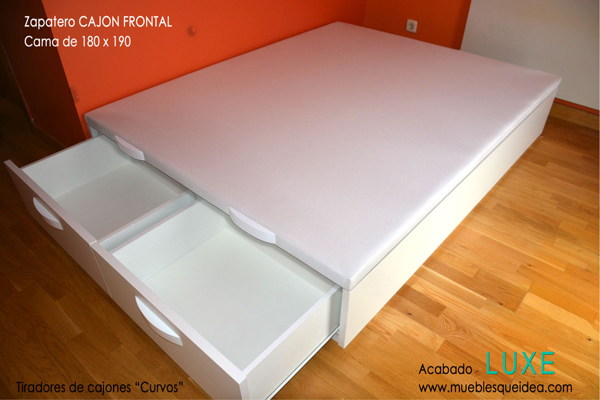 Cama con zapatero muebles qu idea for Zapatero lacado blanco