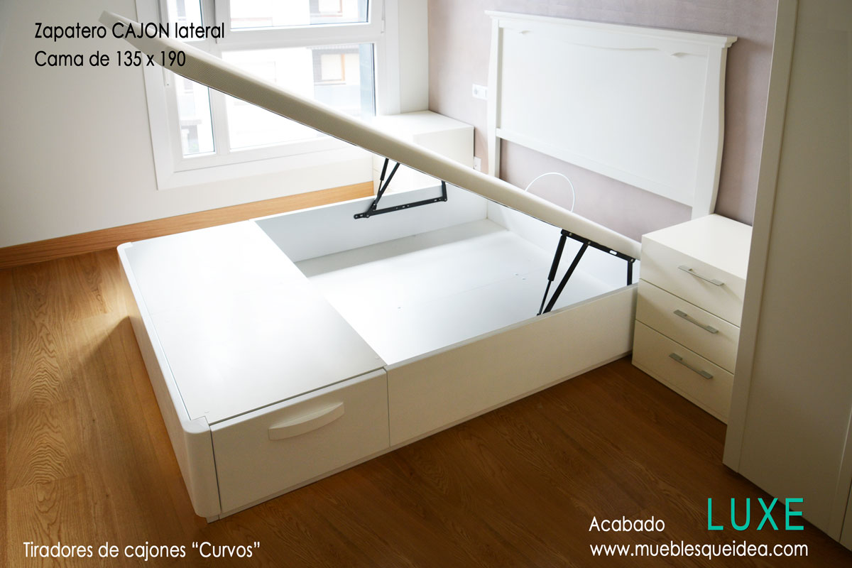 Cama con zapatero muebles qu idea for Canape zapatero