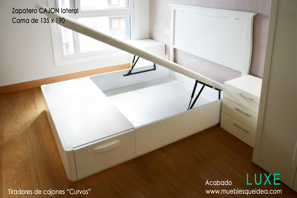 Cama con zapatero muebles qu idea for Zapatero lacado blanco