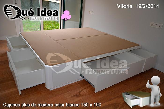 Base de madera para cama individual for Base cama individual con cajones