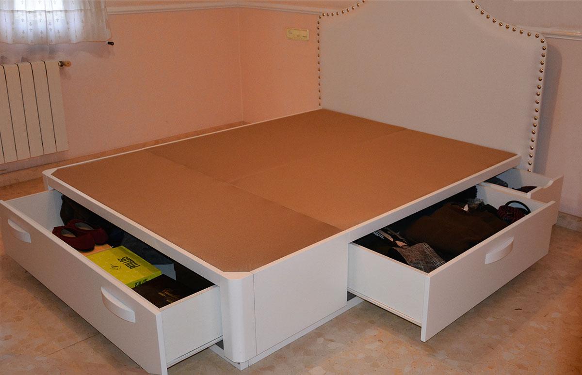 Cama con zapatero muebles qu idea for Cama nina con cajones