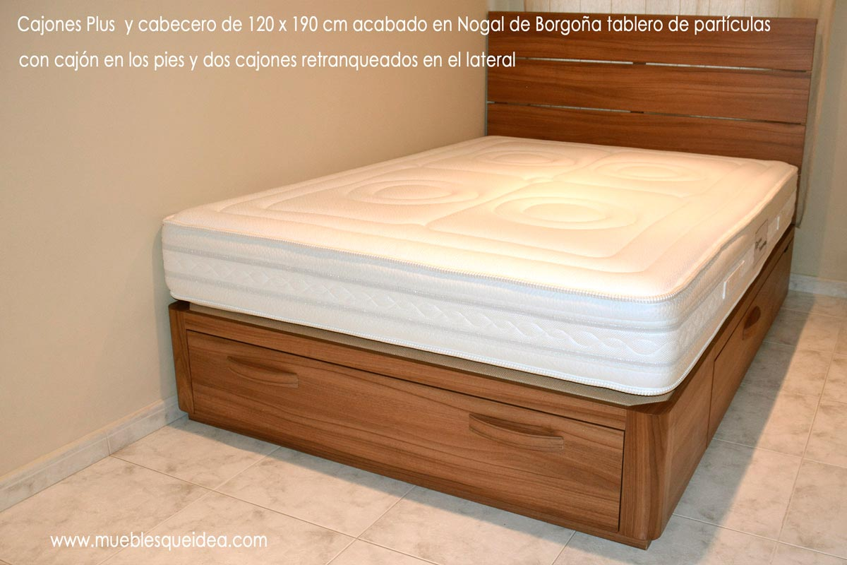 Pin cajones de madera reciclados on pinterest - Base cama japonesa ...