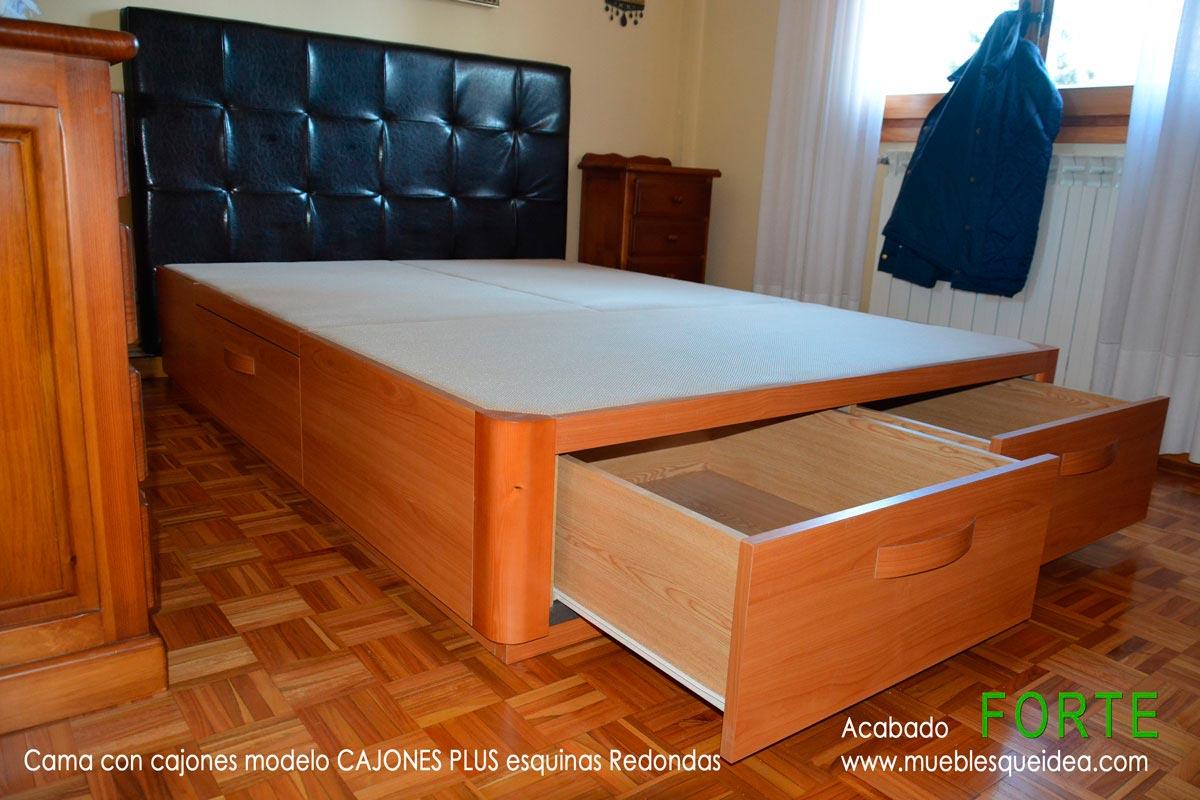 Canap de madera con cajones muebles qu idea for Cama 105 con cajones