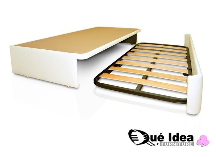 Camas supletorias nido y divanes qu idea hogar for Cama nido de tres camas