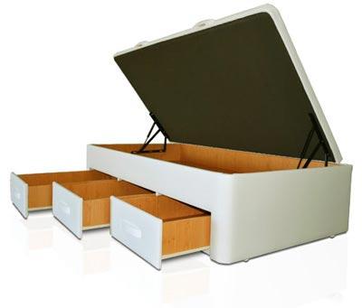 Canap s con cajones cama con cajones muebles qu idea for Cama canape 90