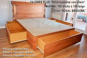 Canap s con cajones cama con cajones muebles qu idea for Canape con zapatero