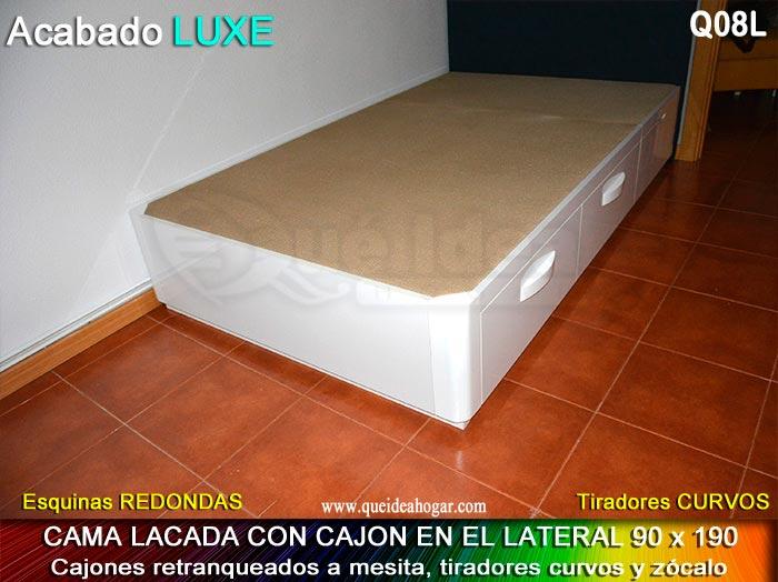 Canap fijo con cajones muebles qu idea for Cama con cajones 90x190