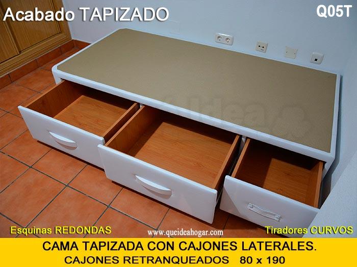 Canap con cajones qu idea hogar Cama de 90 con cajones