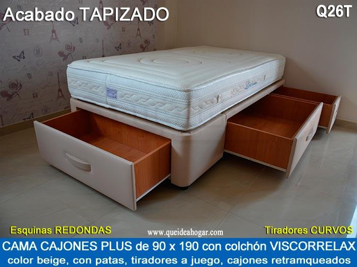 Canap apertura lateral cama canap tapa abatible apertura lateral qu idea hogar - Cama 90 con cajones ...