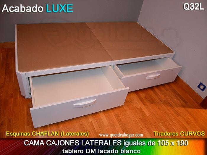 Canap apertura lateral for Cama 105 con cajones
