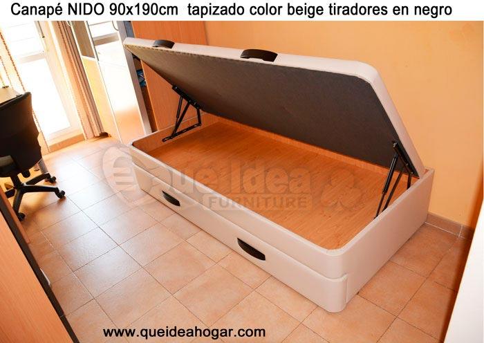 Cama nido tapizada canguro tapizado muebles que idea for Precio somier 105 x 190