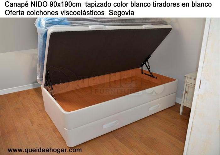 Canap apertura lateral for Canape nido 90