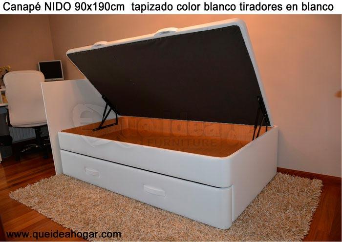 Cama nido tapizada canguro tapizado muebles que idea for Cama nido con arcon