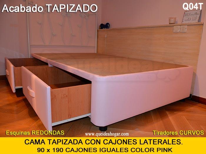 Canap con cajones qu idea hogar - Cama individual con cajones ...
