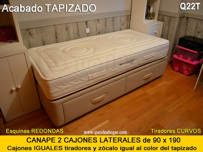 Cama nido tapizada canguro tapizado muebles que idea for Oferta canape y colchon