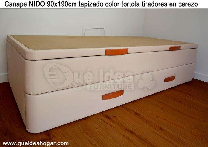 Cama nido tapizada canguro tapizado muebles que idea for Camas canape barcelona