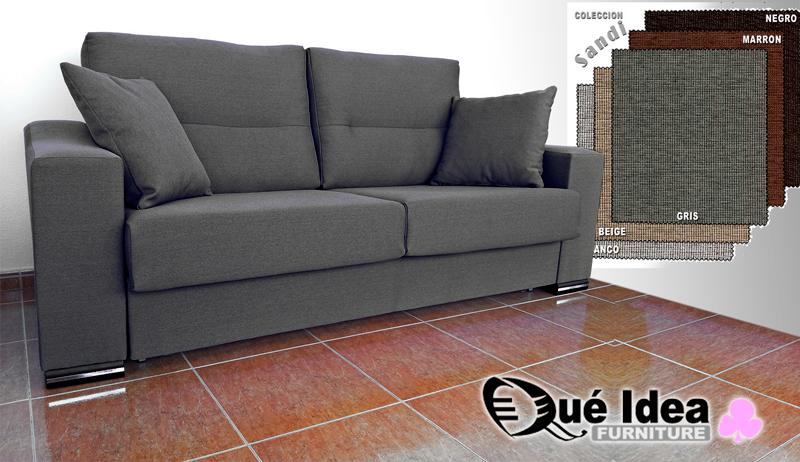 Sofa cama sistema italiano sofa con cama comoda for Sofa cama color gris