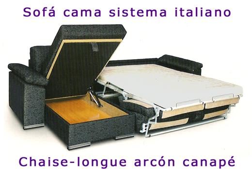 Sofa cama sistema italiano sofa con cama comoda for Sofa cama sencillo precio