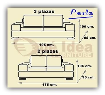 Sof piel perla for Colchones medidas standard