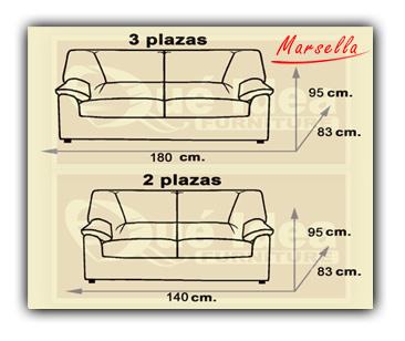 Sof marbella for Medidas de sofas pequenos